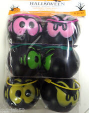 "HALLOWEEN CANDY BASKETS ASSORTED COLORS SET OF SIX -2 1/2"" WIDE"