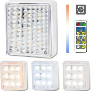 Dimmable Adjustable LED Closet Light CCT Night Remote Control Cabinet Wardrobe