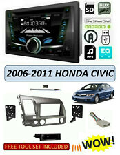 Fits 2006-2011 HONDA CIVIC Stereo Kit, POWER ACOUSTIK PCD-52B, BLUETOOTH USB CD