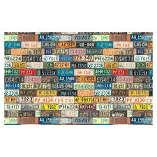 7X5FT Vinyl Photography Backdrop Retro License Plate Wall Photo Background ED