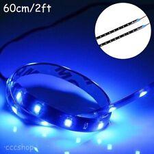 2PCS 60cm(2Ft) Blue SMD Led Lamp String Waterproof Flexible Car Strip Light