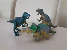 3 Very Realistic Dinosaurs Figures 16cm Long Nice Collectors Lot Geratosaurus
