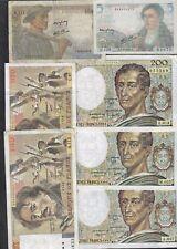 FRANCIA 200 1982-1984-1987 +100 1984-1986 + 10 1946+ 5 1945 francs  lotto 055