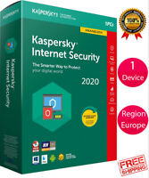 Kaspersky INTERNET Security 2020 1 Device/ For- EUROPE /1 Year / PC-Mac-Android