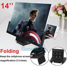 14 Inch Phone Screen Magnifier 3D Video Cell Phone Amplifier Stand Bracket USA