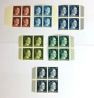 Briefmarken Deutsches Reich - 6x 4er Blöcke Hitler mit Randstücken , Postfrisch