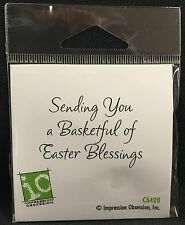 Basketful of Easter Blessings Rubber stamp C5420 Impression Obsession stamps