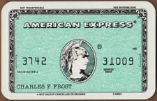 Playing Cards Single Old AMERICAN EXPRESS CREDIT CARD Advertising Art Banking 4
