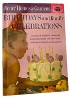 Vintage BETTER HOMES AND GARDENS BIRTHDAYS AND FAMILY CELEBRATIONS HC