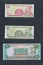 Nicaragua  Lot de 3 billets différents  en état NEUF Lot Numéro 3