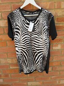 Balmain Mens Zebra Print T-shirt Size Medium - New/Tags/Authentic £485.00
