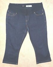New Look cropped MATERNITY JEANS/ long shorts UK 14 - dark blue denim