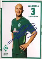 Luca Caldirola + Autogrammkarte 2017/2018 + Werder Bremen + AK2018108 +