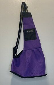 TAILUP Small Dog Cat Mesh Pet Carrier Puppy Soft Sling Bag Travel Tote - Purple