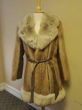 Mademoiselle Cream Mink & Leather Coat Jacket