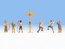 """Noch 36874 scala N FIGURE """" Escursionisti di montagna con croce sulla vetta """" #"""