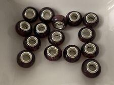 European Beads bordeaux Großlochperle Glas Lampwork 10x14 mm 15 Stück 9044