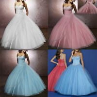Stock Wedding/Bridesmaid Dress Formal Party Dress Quinceanera Dress Prom Gowns