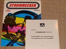 1968 STROMBECKER SPAIN Catalog and Price Booklet Slot Car Catalog Espana