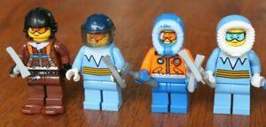 1x Lego Minifig Arctic Explorer or Research Assistant Parka Goggles Pickaxe