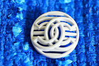 Authentic Chanel Buttons 1  pieces white   20 mm 💋 logo cc