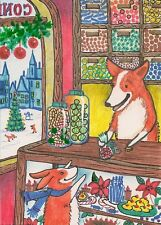 1.5x2 DOLLHOUSE MINIATURE PRINT OF PAINTING RYTA 1:12 SCALE XMAS CANDY CORG ARTI