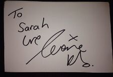 LORRAINE KELLY SIGNED 6X4 WHITE CARD TV AUTOGRAPH ITV PRESENTER TO SARAH