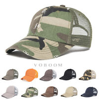 VOBOOM Vintage Distressed Mesh Trucker Baseball Cap Hip-Hop Caps Hat Snapback
