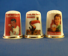 Birchcroft Thimbles -- Set of Three -- Vintage Advertising Posters -- Beer