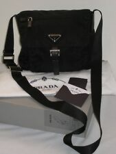 PRADA Nero Black Vela Nylon Crossbody Handbag Purse