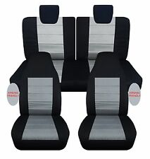 Suzuki alto front+back car seat covers with airbags provision  black/charcoal