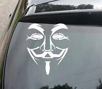 ANONYMOUS MASK Novelty Car/Van/Truck/Bumper/Window/Laptop Vinyl Sticker/Decal