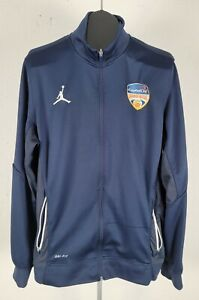 Large Jordan Dri Fit Blue Full Zip Mens Mock Neck Jacket