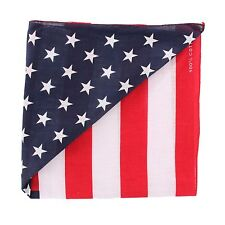 Lot of 12Pcs American Flag Cotton Bandana Head Wrap in Patriotic Design