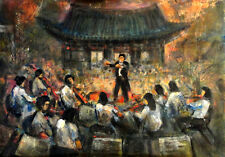Asian Youth Symphony Orchestra 20x30 in. Acrylic on panel  Hall Groat Sr.