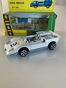 Politoys - E15 Ford Mirage 1:43 White 3 Diecast Mint Made In Italy