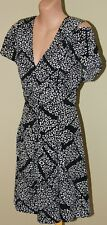 Womens Black and Ivory Cut Out Dress - Veronika Maine - Size S/M