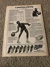 Vintage 1978 CLYDE FRAZIER PUMA 'BASKET' BASKETBALL SHOES Poster Print Ad CAVS
