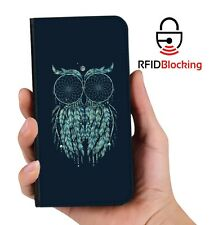 RFID Protected Owl Dreamcatcher PU Leather Phone Wallet Case for Samsung Galaxy
