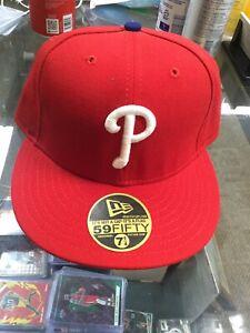 NWOT Vintage Philadelphia Phillies New Era Authentic Fitted Wool Hat Cap 7 1/4