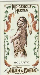 2018 Allen and Ginter Mini Indigenous Heroes #MIH-12 Squanto NM-MT