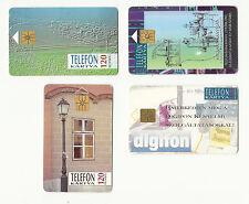 HUNGARY MAGYAR PHONECARDS 1993 – TELEFON KARTYA – Lot of FOUR (4) – USED