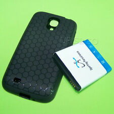 7980mAh Extra Extended Battery Black Cover Tpu Case for Samsung Galaxy S4 i545