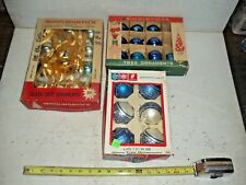 3 Boxes Old Vintage Glass Christmas Ball Ornament Decoration Franke & Woolworths