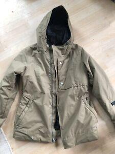 Burton Dry Ride Khaki Womans Large Mens Small Jacket Like New