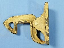 "Vintage Antique Iron Barn Door Gate Latch  1 1/2"" x 3"" Chippy White Unique"