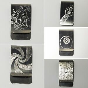 Engraved Stainless Steel Money Clips