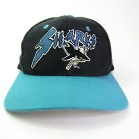 Vintage San Jose Sharks Snapback Hat / Cap 100% 💯 Wool 90s NHL UII u i i