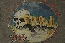 TRUE RELIGION SKULL & ROSE Sexy Deep V-Neck T-Shirt M NWOT$94 TR Logo! Grey!