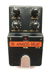 Pearl AD-08, Analog Delay, Made In Japan, 1980's, Vintage Guitar Effect Pedal